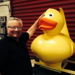 And there he is in all his glory - oh and there is Allen the duck maker in all his glory as well !!
